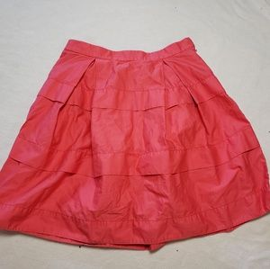 J Crew Pink Tier Mini Skirt